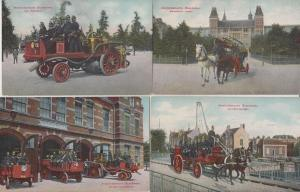 POMPIER Fire Brigade Amsterdam Holland Netherlands 11 Cartes Postales 1900-1940.