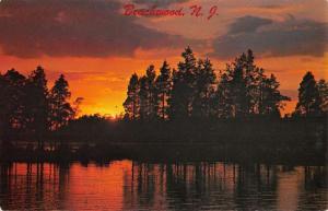 Beachwood New Jersey Scenic Waterfront Sunset Vintage Postcard K670715
