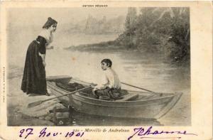 CPA Folklore - Mireille & Andreloun - A. Régnier (699344)