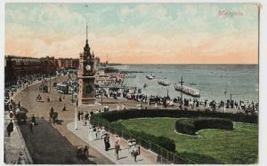 Kent; Margate PPC, 1908 PMK, To Liversedge, Sydenham, Note Bathing Machines