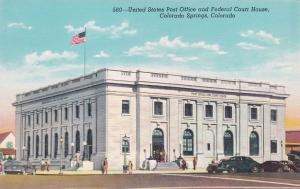 COLORADO SPRINGS, CO, 30s-40s; United States Post Office & Federal Court House