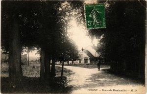 CPA POIGNY - Route de RAMBOUILLET (246524)