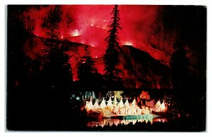 Fire Mountain, Old Indian Pageant, Guerneville, CA Postcard *6L18