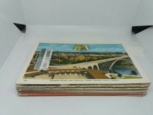 Job Lot 40+ Vintage Topographical Foreign Postcards Standard Size Mixed