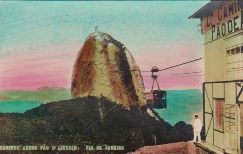 RP: RIO DE JANEIRO , Brazil , 1910s ; Caminho Aero Pao D'Assucar #2