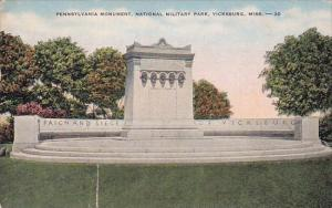 Mississippi Vicksburg Pennsylvania monument National Military Park