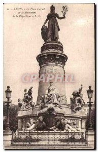 Postcard Old Lyon Place Carnot and the Republic Monument