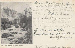 Gulf Bridge , Troy Valley Road , Vermont , 1907