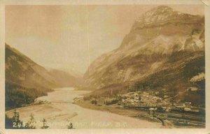 Canada Field River Bridge Village Geneal view Mountain Postcard