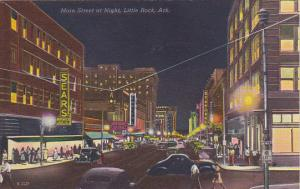 Arkansas Little Rock Main Street At Night