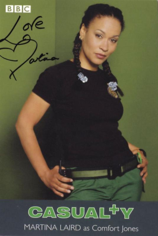 Martina Laird as Comfort Jones BBC Casualty Hand Signed Cast Card Photo