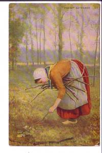 Faggot, (Stick for Kindling) Gatherer, Art Series Warwick 242