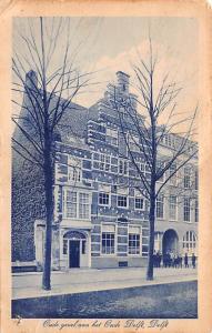Delft Holland Oude gevel aan het Oude Delft Delft Oude gevel aan het Oude Delft