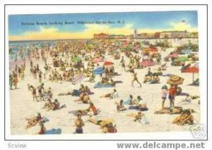 Beach,South view,Wildwood-by-the-Sea,New Jersey 30-40s