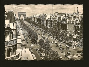 Paris Avenue des Champs-Elysees Chantal Real Photo Postcard