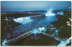 Canada, Niagara Falls, Illuminated, Ontario, unused Postcard