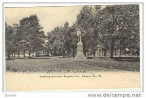 Armstrong Monument, Allegheny Park, Allegheny City,Pennyslvania, PU-1906