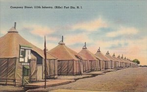 Company Street 113th Infantry Fort Dix New Jersey