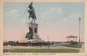 La Statue Du General San-Martin, Boulogne-sur-Mer (Pas de Calais), France, 19...