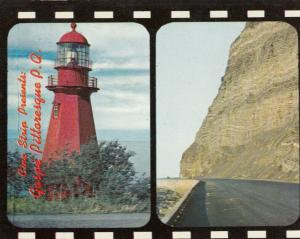 GASPE , Quebec, Canada, 1950-60s ; Red Lighthouse