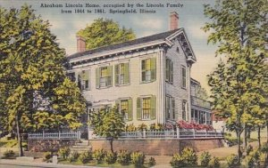 Abraham Lincoln Home Occupied By The Lincoln Family From 1844 To 1861 Springf...