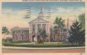 FRONT ROYAL, Warren County Court House and Confederate Monument, Virginia, 30...