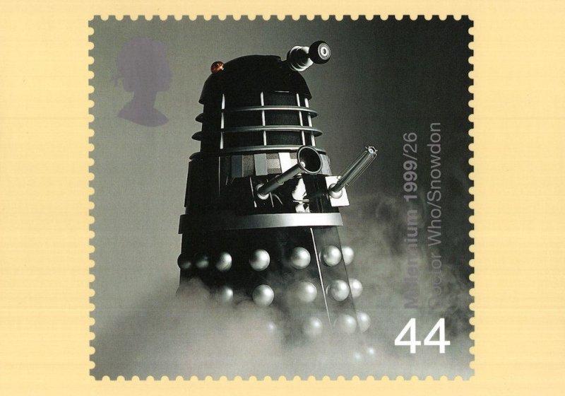 Dr Who Dalek Snowdon Rare Limited PHQ 1999 Stamp Postcard