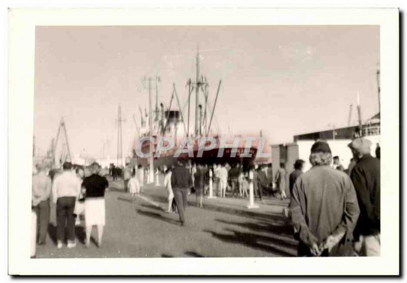 CPA Real photo Boat Port Mothe d&#39 Iberville Le Havre
