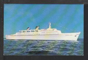SS Emerald Seas,Eastern Steamship Lines Postcard