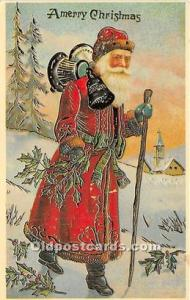 Santa Claus Postcard Old Vintage Christmas Post Card Reproduction 1994