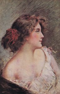 Artist ASTI ; Female Head Portrait , 00-10s #4 ; Canadian Souvenir Post Card B