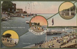 COWES, Isle of Wight, England, United Kingdom, 1900-10s; 6 view postcard