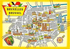 Belgium Brussel Bruxelles Map Grand Place Bourse Palais de la Nation