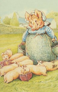 The Tale Of Pigling Bland Beatrix Potter 1913 Book Postcard