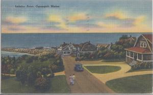 OGUNQUIT Maine / LOBSTER POINT 1940s - OLD CARS