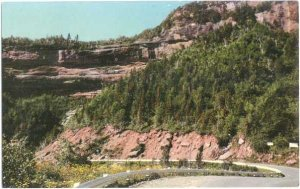 Interesting Geological View Grand Coup near Perce, Quebec, PC, 1964 Chrome