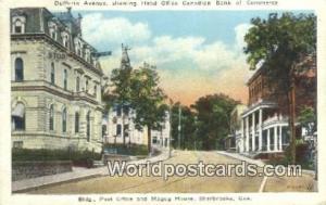 Sherbrooke Canada, du Canada Dufferin Avenue, Head Office Canadian Bank of Co...