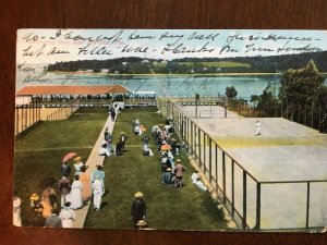 1909 Swimming Pool, Tennis Courts, Bar Harbor, Maine ME D15