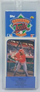 1989 Topps Baseball Talk Soundcard Collection #33 Bob Welch Sparky Anderson NOS