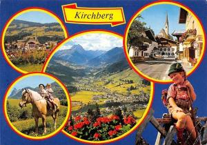 Kirchberg Tirol, Pferde Horse General view Street Cars Auto Pension