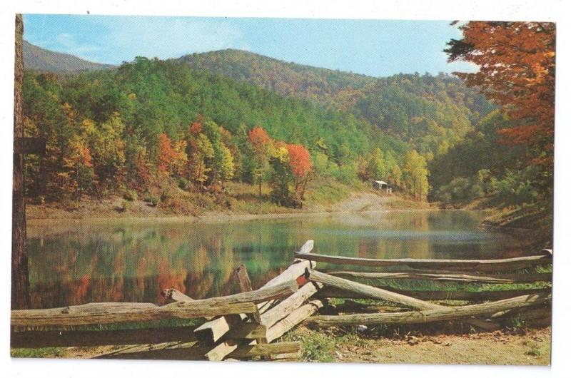 Lake Marion Greenbrier Smoky Mountain Tennessee Postcard TN