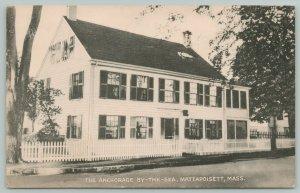 Mattapoisett Massachusetts~Anchorage By The Sea~1940s Linen Postcard
