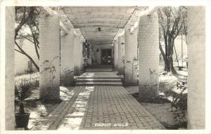 Claremont California~Padua Hills Theatre Entrance~Covered Column Walk~1930s RPPC