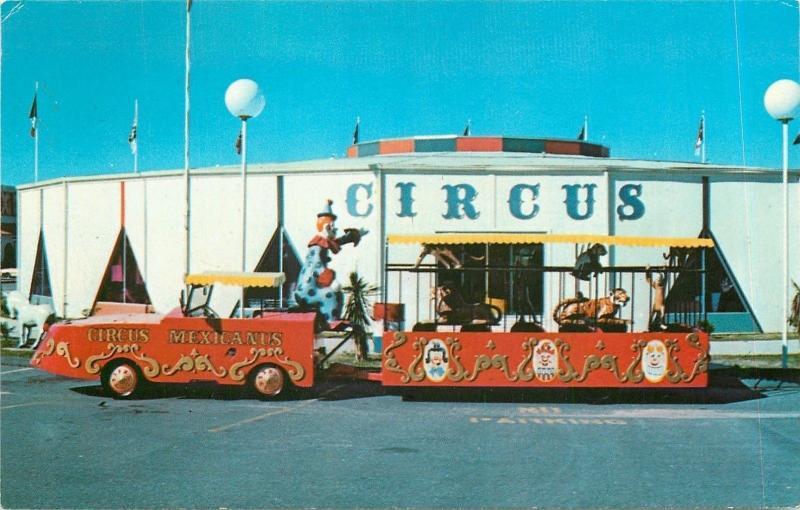 South of the Border South Carolina~Circus Mexicanus~Wagon Trail~Clown~1950's PC