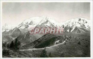 Old Postcard Col d'Arbois and Mont Blanc Chain