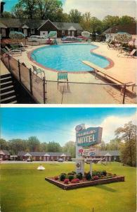 Baltimore MD~Hawkins Motel~Neon Sign~Kidney Pool~1960 Station Wagon~Fins~PC