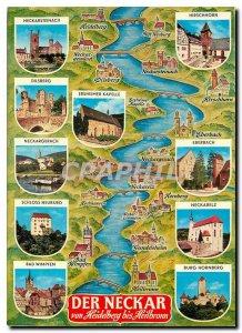 Modern Postcard Der Neckar Heidelberg von bis Heilbrown