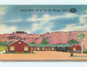 Unused Linen HAIL'S MOTEL St. Saint George Utah UT u8071@