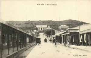 PC CPA NEW CALEDONIA, PACIFIC, NOUMÉA, RUE DE L'ALMA, Vintage Postcard (b19337)
