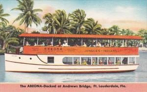 Florida Fort Lauderdale Abeona Sightseeing Boat Docked At Andrews Bridge